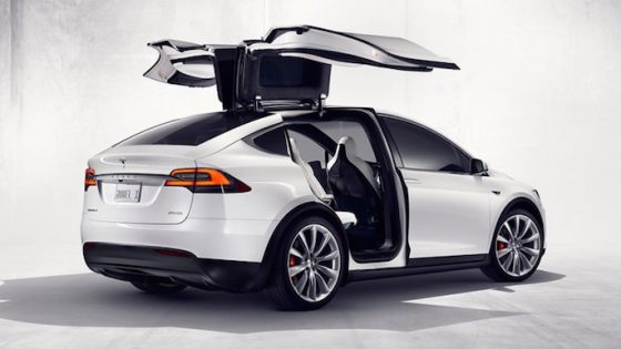 Tesla Model X 2016 back doors
