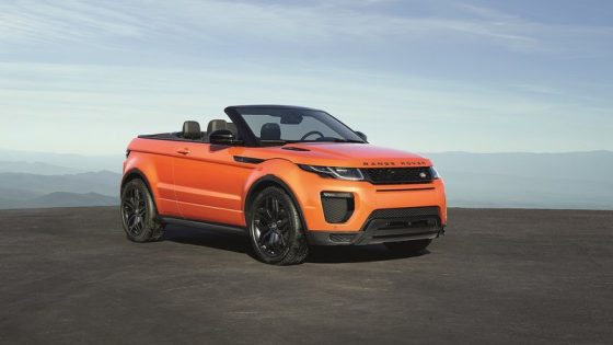 Range Rover Evoque Cabriolet officiel face