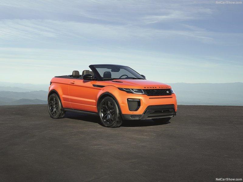 Range Rover Evoque Cabriolet officiel face