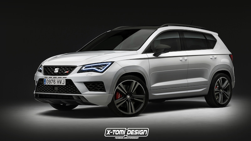 seat ateca cupra bient t en tenu de sport. Black Bedroom Furniture Sets. Home Design Ideas