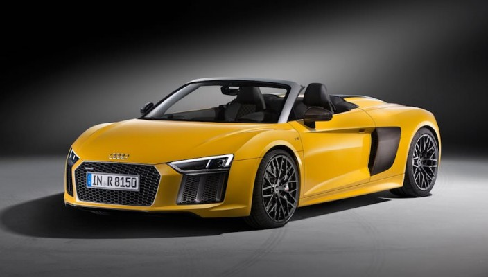 audi r8 spyder 2017 derni re sortie avant new york. Black Bedroom Furniture Sets. Home Design Ideas