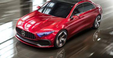 Mercedes Concept A Sedan avant 3/4