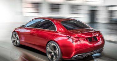 Mercedes Concept A Sedan arrière 3/4