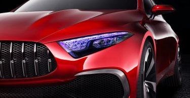 Mercedes Concept A Sedan phare avant