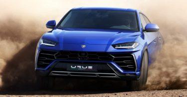 Lamborghini Urus bleu face avant