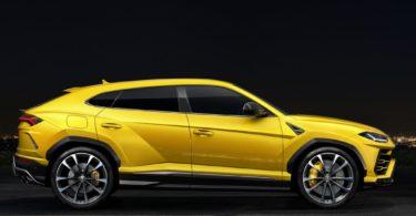 Lamborghini Urus jaune profile