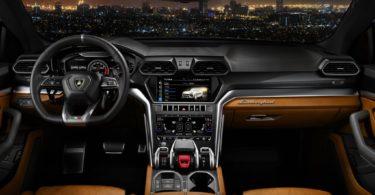 Lamborghini Urus console centrale
