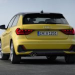Audi A1 2019 jaune vue arrière