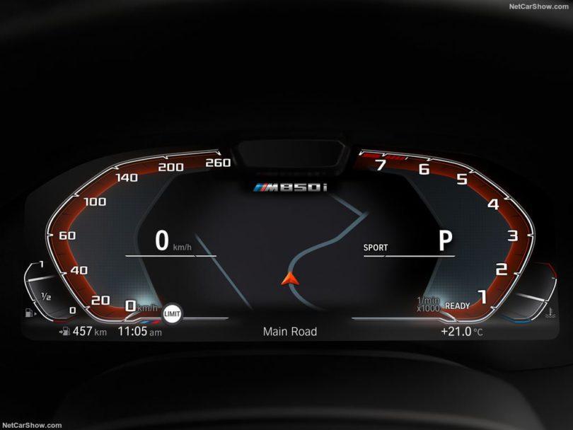 BMW Série 8 2019 compteur digitale