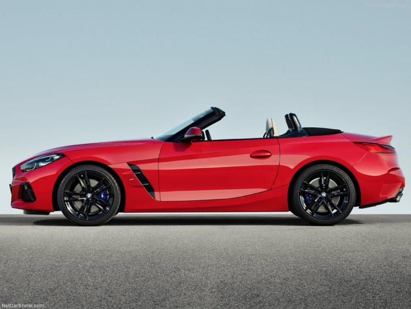 BMW Z4 2019 profile toit ouvert