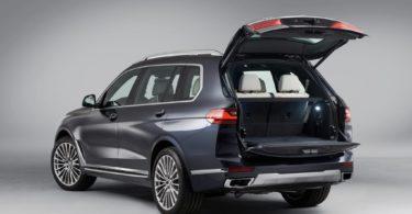 BMW X7 2019 coffre ouvert