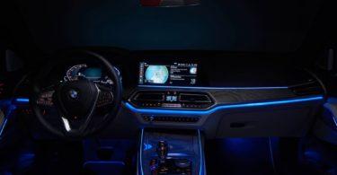BMW X7 2019 intérieur de nuit
