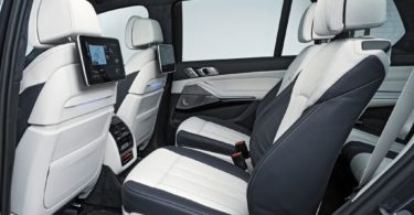 BMW X7 2019 2ème rangée de siège