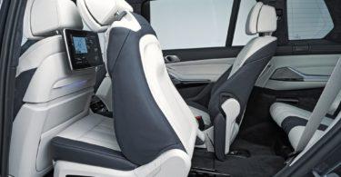 BMW X7 2019 deuxième rangée de sièges