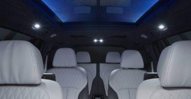 BMW X7 2019 vue intérieur nuit