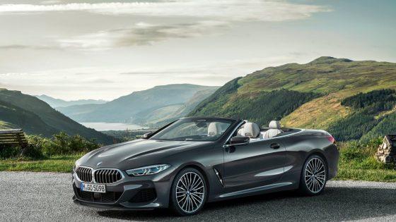 BMW Série 8 Cabriolet 2019 capote ouverte 3/4 avant