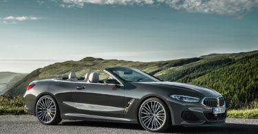 BMW Série 8 Cabriolet 2019 capote ouverte profile