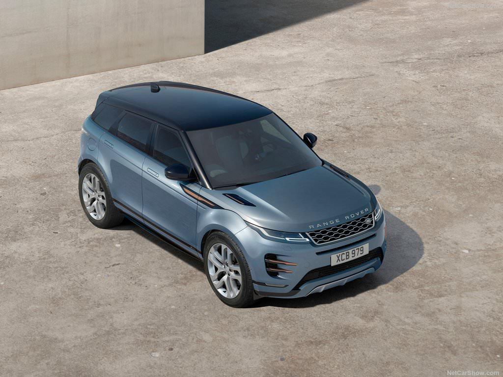 Land Rover Range Rover Evoque 2019 vu de hauteur