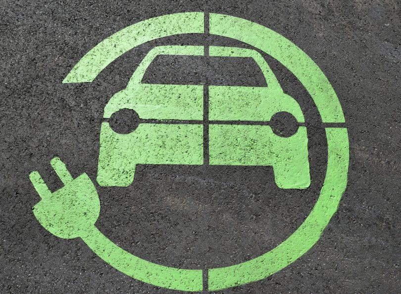 Logo voiture électrique