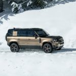 Galerie Land Rover Defender 2020 version 110 sur la neige