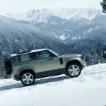 Galerie Land Rover Defender 2020 version 90 dans le neige