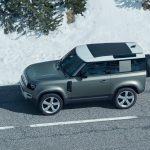 Galerie Land Rover Defender 2020 version 90 vu du dessus